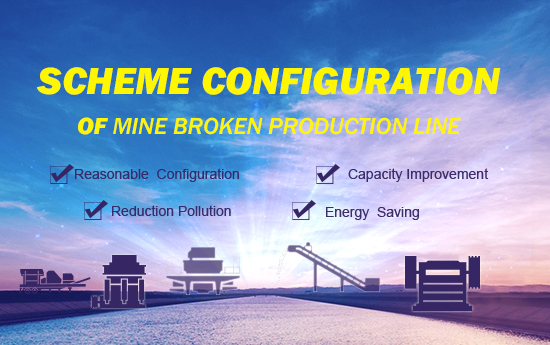 Scheme configuration of mine broken production line