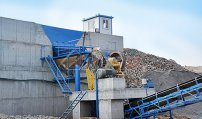 The bluestone crushing equipment with capacity of 1000 tons per day